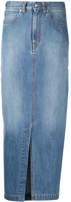 Victoria Victoria Beckham High-Rise Denim Maxi Skirt