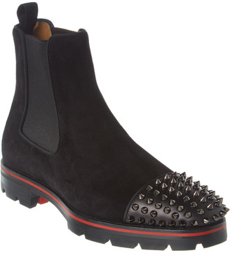 Christian Louboutin Melon Spikes Suede & Leather Boot