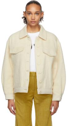 Sjyp Off-White Hairy Fleece Jacket