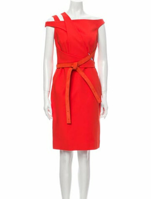 Kaufman Franco Kaufmanfranco Off-The-Shoulder Knee-Length Dress Orange Kaufmanfranco Off-The-Shoulder Knee-Length Dress