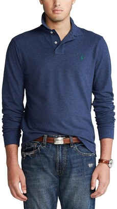 Polo Ralph Lauren Custom Fit Polo Shirt with Long Sleeves in Cotton