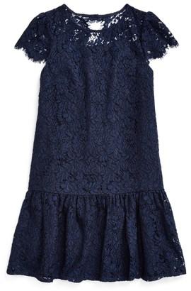 Ralph Lauren Lace Drop-Waist Dress