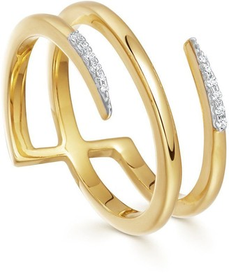 Missoma Gold Pave Claw Lacuna Ring