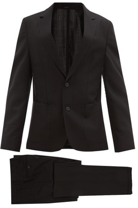 Paul Smith Single-breasted Slim-fit Wool Suit - Mens - Black
