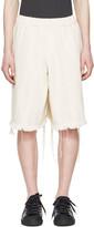 Marques Almeida Off-white Denim Track Shorts