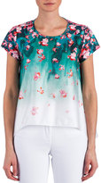 Zac Posen Juni Short-Sleeve Floral Top