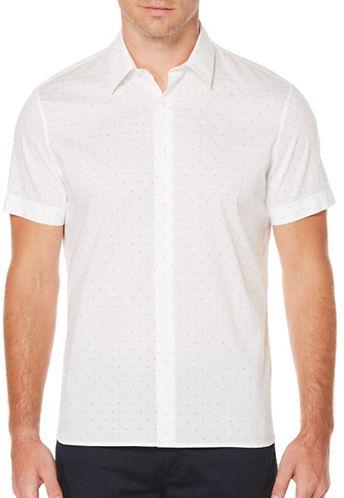 Perry Ellis Big And Tall Dot Sport Shirt