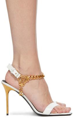 Balmain White Roxana Heels