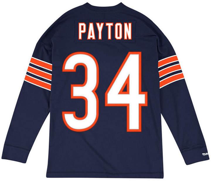 online store b0c2d f2b83 Men Walter Payton Chicago Bears Retro Player Name & Numer Longsleeve T-Shirt