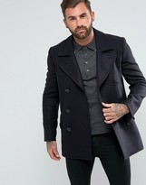 Paul Smith Cashmere Mix Peacoat in Navy