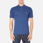 Polo Ralph Lauren Men's Short Sleeve Custom Fit Polo Shirt Beach Royal Heather