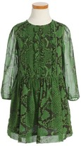 Burberry Toddler Girl's Mini Joanie Snake Print Silk Dress