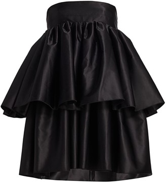 Rotate by Birger Christensen Carmina Tiered Strapless Dress