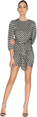 Alexandre Vauthier Polka Dot Stretch Satin Mini Dress