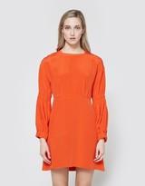 Tibi Silk Balloon Sleeve Short Dress