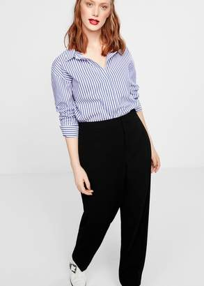 MANGO Violeta BY Straight suit trousers black - XS - Plus sizes