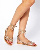 Asos FOREVER Leather Flat Sandals