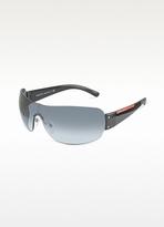 Prada Linea Rossa Rimless Shield Sunglasses