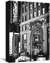 Art.com Hard Rock Cafe and Paramount Building at Times Square by Night, Broadway, Manhattan, New York Stretched Canvas Print By Philippe Hugonnard - 30x41 cm