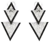 Elise Dray drop triangle diamond earrings
