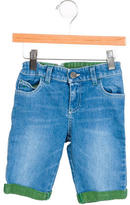 Gucci Boys' Cuffed Knee-Rise Shorts