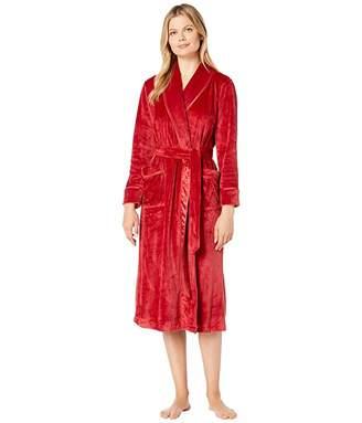 Carole Hochman Plush Velour Long Wrap Robe