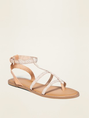 Old Navy Geometric-Print Gladiator Sandals for Women