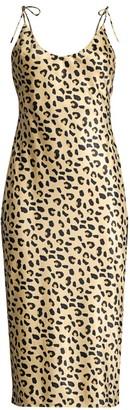Mestiza New York Aurora Christina Leopard-Print Satin Slip Dress
