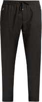 Dolce & Gabbana Wool and cotton-blend track pants