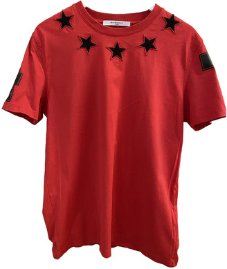 Givenchy Red Cotton T-shirts