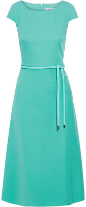 Max Mara Opunzia Belted Cotton-cady Dress