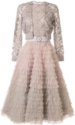 Saiid Kobeisy Ruffled Midi Dress