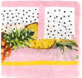 Dolce & Gabbana pineapple print scarf - women - Silk/Linen/Flax/Modal - One Size