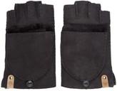 Mackage Black Shearling Orea Gloves