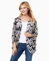 Charming charlie Chevron Open Cardigan