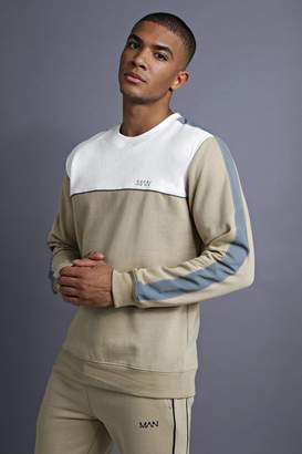 boohoo MAN Sweater With Panelling