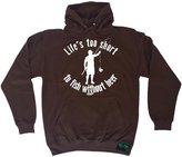 Drowning Worms Premium Drowning Worms Life's Too Short To Fish Without Beer (L - HOT-CHOCOLATE) HOODIE
