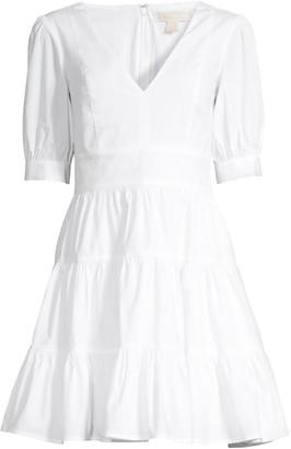 MICHAEL Michael Kors Puff-Sleeve Mini Dress