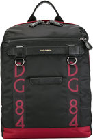 Dolce & Gabbana logo panel backpack