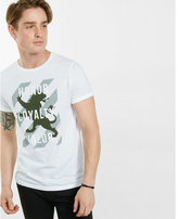Express honor loyalty valor lion graphic t-shirt