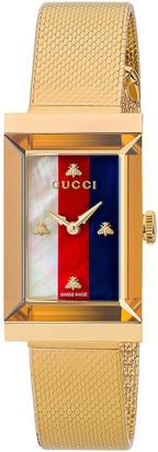 Gucci Mesh Bracelet Watch in Yellow Gold | FWRD