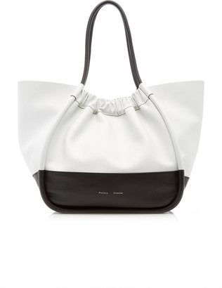Proenza Schouler Ruched Two-Tone Leather Tote