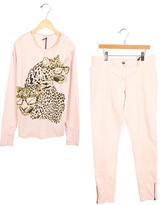 Stella McCartney Girls' Leopard Print Pant Set w/ Tags