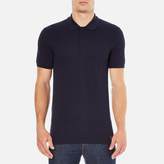 Versace Collection Collar Detail Polo Shirt Navy