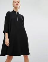 Monki High Neck Zip Dress Dress