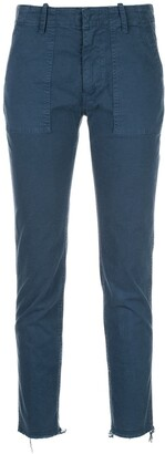 Nili Lotan Plain Slim Cropped Trousers