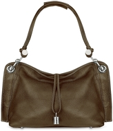 Buti Charm Drop Dark Brown Pebble Italian Leather Hobo Bag