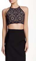 David Lerner Lace Front Crop Top