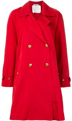 Chanel Pre Owned CC button trench coat