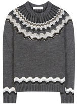 Valentino Embellished Wool And Alpaca-blend Sweater